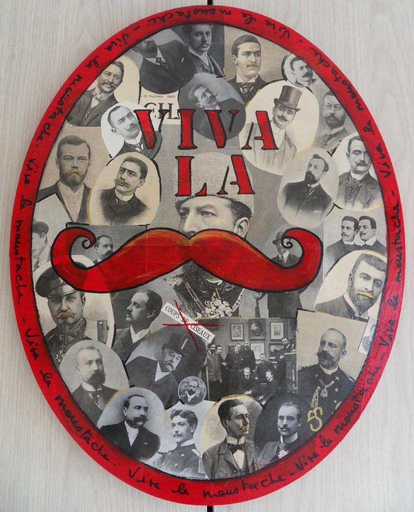 Viva la Moustache 20 x 40 cm